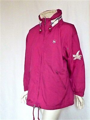 BOGNER SKI COAT Parka Jacket 8 Layerlite System EMBROIDERED EAGLES HOOD  Fuchsia 5b767237f