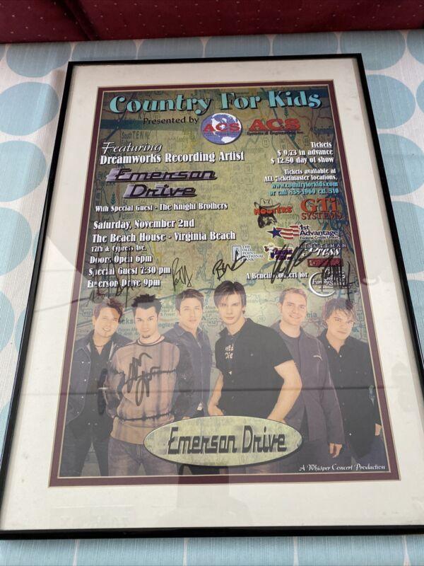 Super Rare Emerson Drive Signed Autographed Concert Poster ORIGINAL BAND MEMBERS