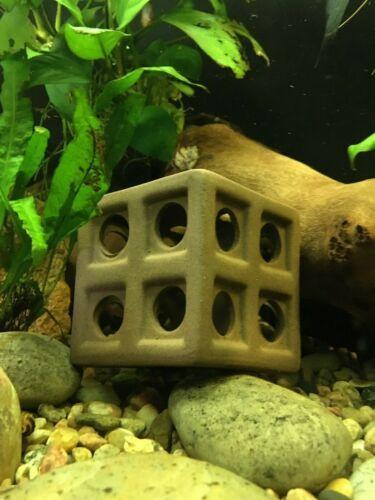 Ceramic Fish Tank Decoration Aquarium Accessories Ornament Cube - US SELLER