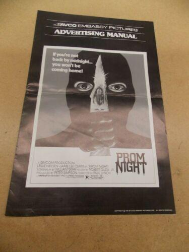PROM NIGHT(1980)JAIME LEE CURTIS ORIGINAL PRESSBOOK