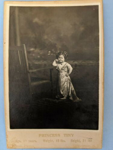 """1914 CABINET photo WENDT NJ - """"Princess Tiny"""" Ringling Circus Sideshow Performer"""