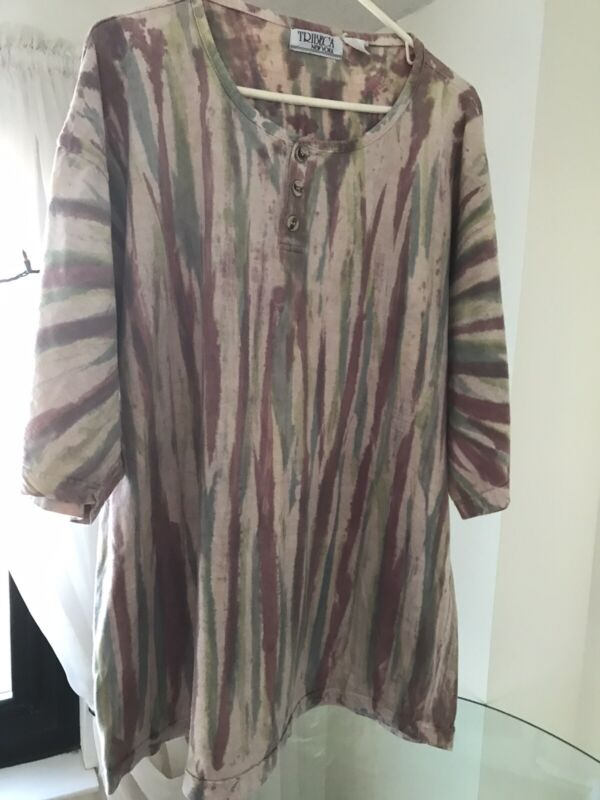 Tribeca New York Men's Vintage XL Earthtone Shirt