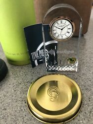 $175+ small Waterford Crystal LISMORE Essence GIFTOLOGY clock new in container