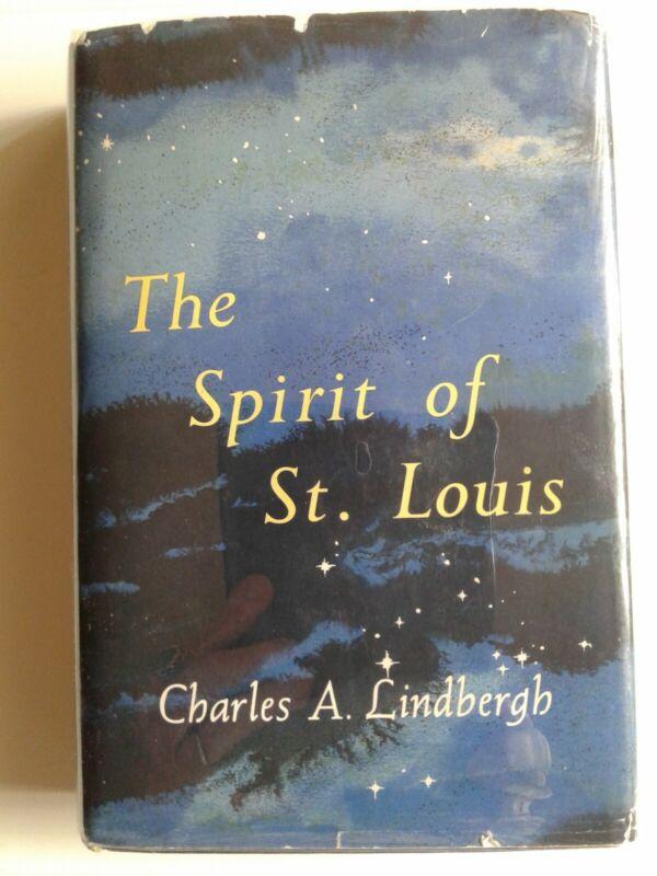 Chas.A Lindbergh SIGNED 1953 ~THE SPIRIT OF ST LOUIS ~HCDJ PULITZER VG/VG BOMC