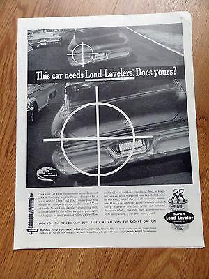 1961 Monro-matic Shocks Absorbers Ad  Super Load-Leveler