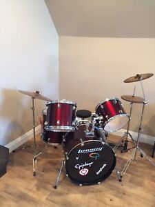 Ludwig 5 Piece Drum Set with extras