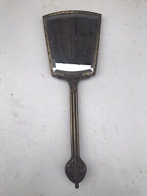 Antique Bevel Edged Handheld Mirror