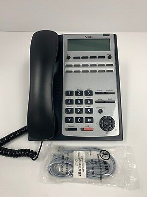 Nec Sl1100 12 Button Display Speaker Phone 1100061 Ip4ww-12txh-b-tel Bk