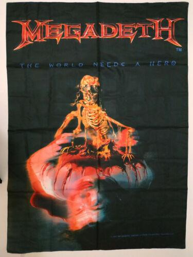 Vintage   MEGADETH    Unused   2001 TEXTILE POSTER FLAG
