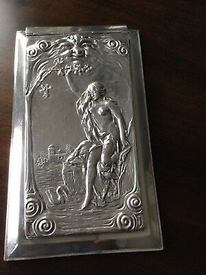Art Deco Silver Notepad Paper Holder Notepad Paper Holder