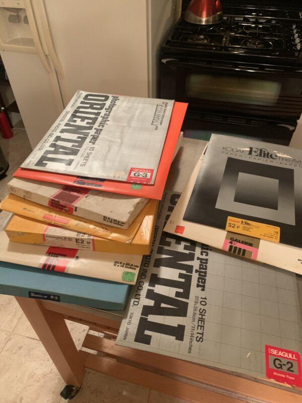 "10 Box Mixed Lot 11x14""* Ilford MGIV Fiber & RC B&W Photo Papers"