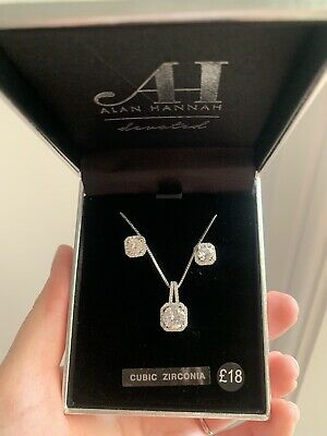 Jon Richard Silver Necklace And Earrings Set Jewellery Brand New Wedding