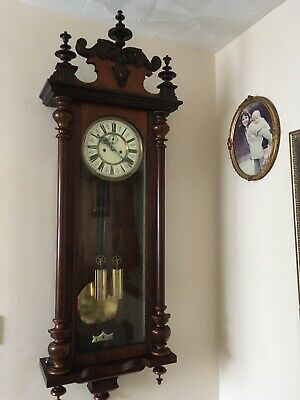 German Twin Weight vienna Wall Clock