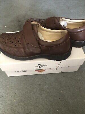 NIB Hoopoe Ortho Line Charles Men's Brown Shoes Size 12