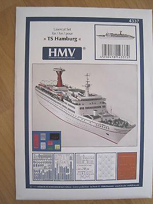 TS Hamburg Lasercutsatz f. Passagierschiff Schiff Kartonbausatz NEU Bastelbogen