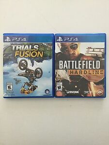 Trials Fusion and Battlefield Hardline (PS4)
