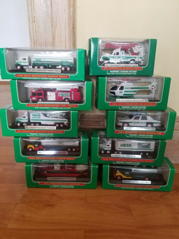 Hess Trucks MINIATURES NIB 1998-2007 CHOOSE YOUR HESS TRUCKS CAR HELI BOAT 4YRS+