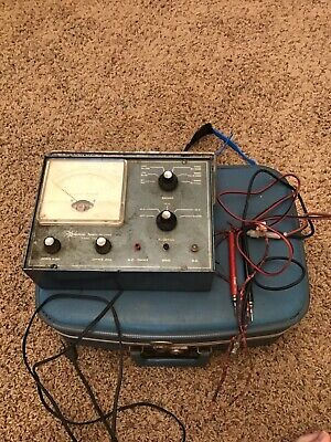 Vintage Commercial Trades Institute Vt-20 Tube Tester With Leeds Works