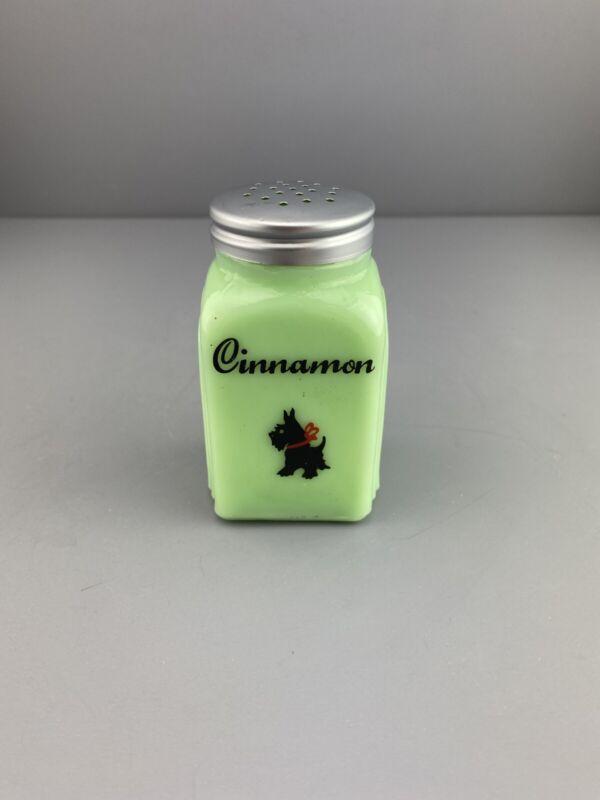 """Vintage Jadeite Green Scottie Dog Cinnamon  Art Deco Design 4"""""""