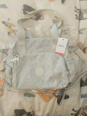 Ladies Grey and Cream Kipling Bag Brand New With Tags