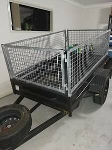 7 x 4 galvanised box trailer with cage 18 months old Caboolture Caboolture Area Preview