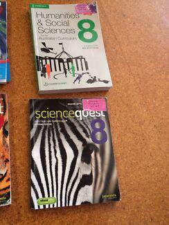Text books Yr 8