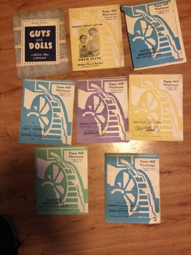 GUYS AND DOLLS Souvenir Program PAPER MILL PLAYHOUSE Millburn, NJ + 9 More '50's