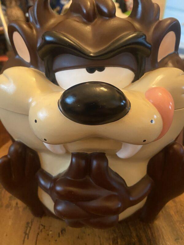 Looney Tunes Taz Tasmanian Devil Warner Bros Applause Plastic Cookie Jar 1997