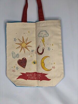 Swarovski 'What is Your Fortune?' Lucky Goddess Crystal Canvas Tote Bag 15