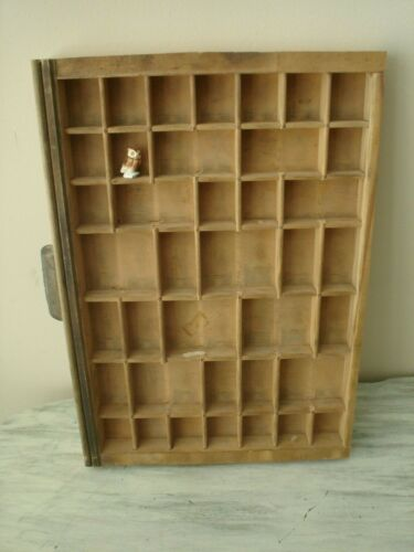 Ludlow Antique Printer Tray Drawer Shadow Box 11X16 Excellent Condition