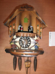 Cuckoo Clock German SEE VIDEO Black Forest Schmeckenbecher Chalet 1 Day CK2483