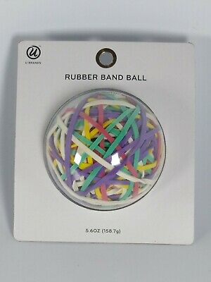 Rubber Band Ball Multi Colored 5.6 Oz Office Heirloom