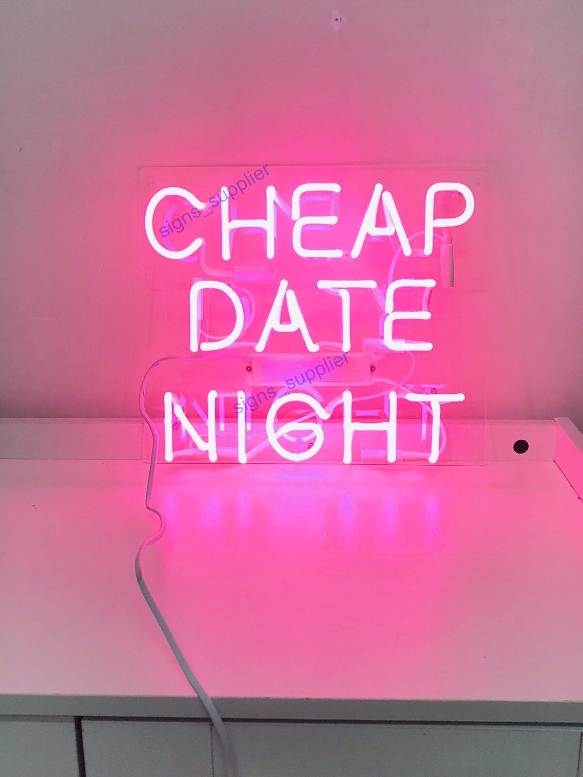 New Cheap Date Night Neon Sign Acrylic Gift Light Lamp Bar W