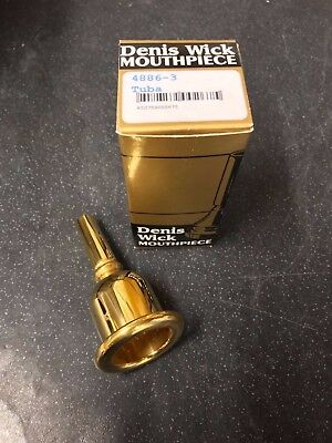 Denis Wick Heritage 3 Tuba  Mouthpiece-New,Unused Gold Plated-