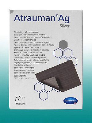 Atrauman Ag Silver - 5 x 5cm steril - Kompressen 10St - PZN 2813842
