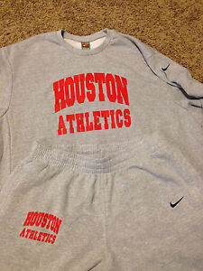 Rare-NWOT-University-of-Houston-Nike-Sweat-Suit-Gym-Workout-Basketball-Jersey