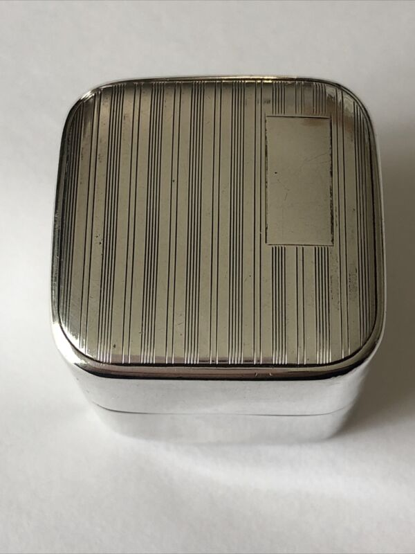 Vintage Art Deco Sterling Presentation Ring Box 29.6 grams