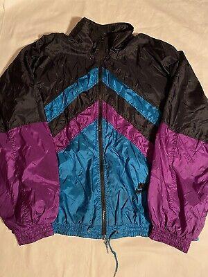 Vintage Nike Grey Tag 90s Windbreaker Teal/Purple Colorblocked Size XL