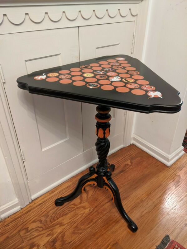 Vintage Hand Painted Halloween Table