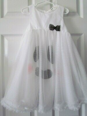 Halloween White Ghost Costume (H & M Adorable! White Tulle Halloween Ghost Costume Little Girl Dress Size)
