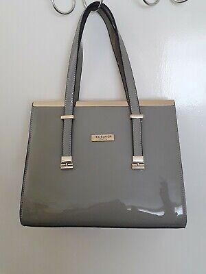 BNWOT Ted Baker grey patent handbag, vintage style