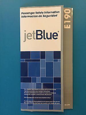 Jetblue Airways Safety Card   E190