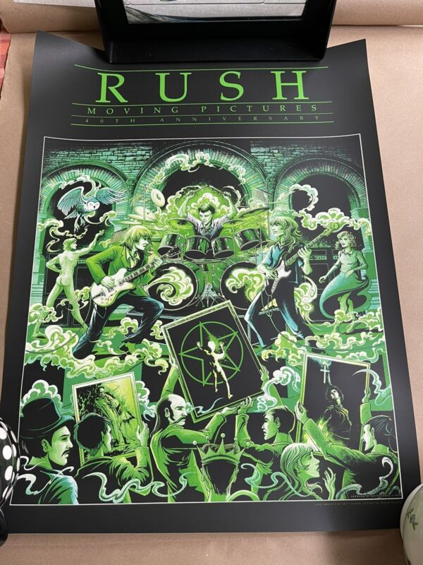 Rush Moving Pictures 40th Anniversary Poster Limelight Edition Miles Tsang x/81