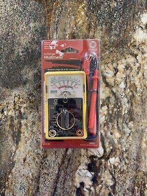 Power Gear Multimeter 14 Range Battery Tester 250v Analog Measures Volta...