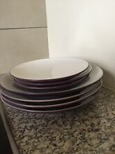 Dinner plates and side plates - purple base Edmonton Cairns City Preview
