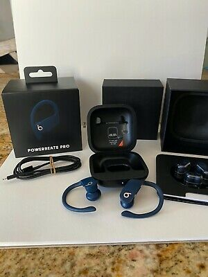 Beats by Dre MV702LL/A Powerbeats Pro Totally Wireless Earphones Navy - READ