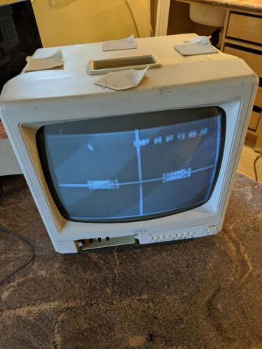 OWL SECURITY MONITOR BLACK WHITE CRT VINTAGE MODEL # OW1204Q *TESTED WORKING*