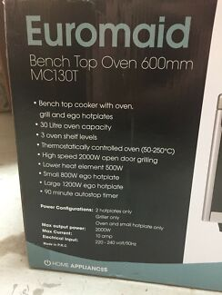 Euromaid benchtop oven - brand new