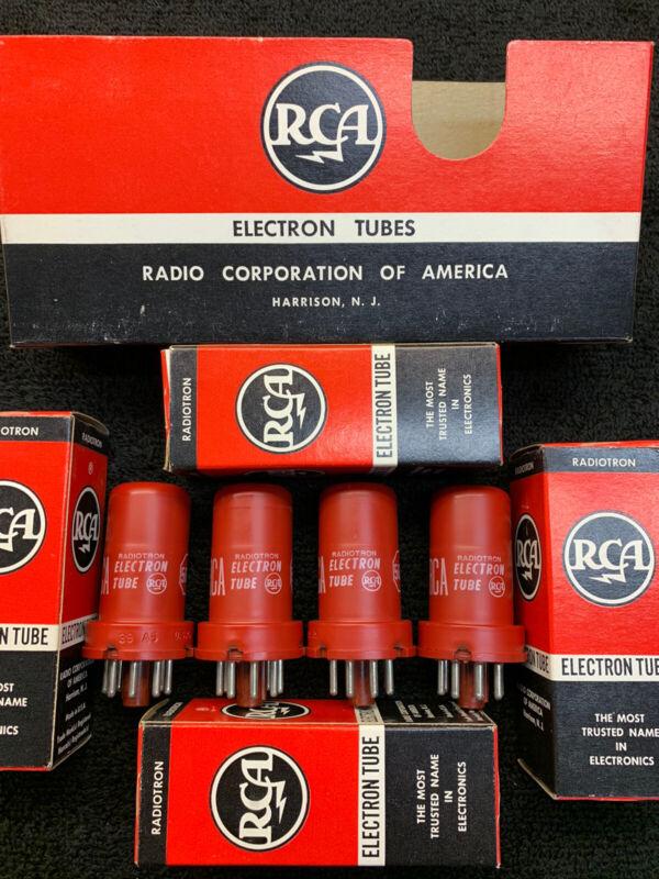 NOS NIB Matched Quad RCA 5693 Audio Tubes USA 1964