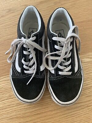 Kids Black Vans Junior Size 13